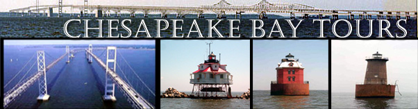 sandy point, thomas point, bloody point lighthouses and chesapeake bay bridge cruises and tour